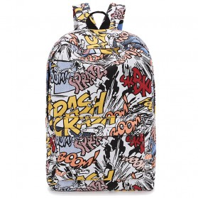 Forudesign Tas Ransel Sekolah Model Grafiti Boom Crash - WGB023K - Multi-Color