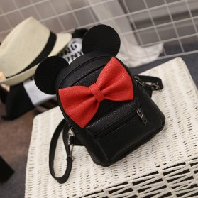 Tas Ransel Wanita Model Mickey Mouse - Black