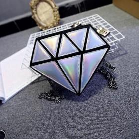 Tas Selempang Wanita Model Diamond - Silver