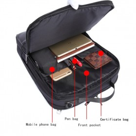 Boss BOPAI Tas Ransel Laptop Profesional - 5971830 - Black - 13