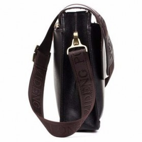 Rhodey Polo Crossbody Tas Selempang Messenger Bag Bahan Kulit Pria - PI576-1 - Brown - 5