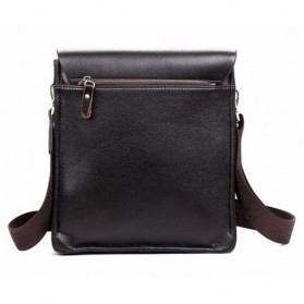 Rhodey Polo Crossbody Tas Selempang Messenger Bag Bahan Kulit Pria - PI576-1 - Brown - 6