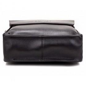 Rhodey Polo Crossbody Tas Selempang Messenger Bag Bahan Kulit Pria - PI576-1 - Brown - 8