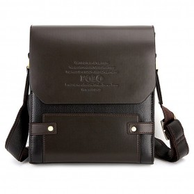 Rhodey Trunk Tas Selempang Pria Messenger Bag Vertical - 39503 - Dark Brown - 3