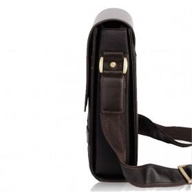 Rhodey Trunk Tas Selempang Pria Messenger Bag Vertical - 39503 - Dark Brown - 4