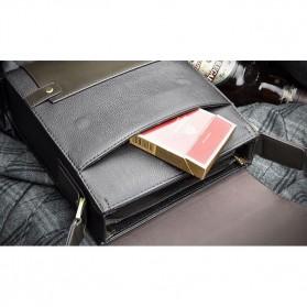 Rhodey Trunk Tas Selempang Pria Messenger Bag Vertical - 39503 - Dark Brown - 8