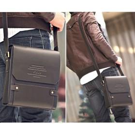 Rhodey Trunk Tas Selempang Pria Messenger Bag Vertical - 39503 - Dark Brown - 9