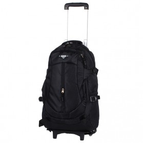 Tas Ransel Travel dengan Trolley - Black