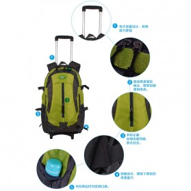 Tas Ransel Travel dengan Trolley - Black - 3