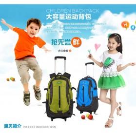 Tas Ransel Travel dengan Trolley - Black - 4