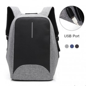 Tas Ransel Laptop dengan USB Charger Port - Space Gray