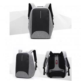 Tas Ransel Laptop dengan USB Charger Port - Space Gray - 2