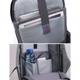 Tas Ransel Laptop dengan USB Charger Port - Space Gray - 3