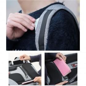 Tas Ransel Laptop dengan USB Charger Port - Black - 4