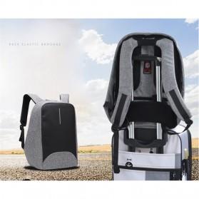 Tas Ransel Laptop dengan USB Charger Port - Black - 6