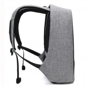 Tas Ransel Laptop dengan USB Charger Port - Black - 7