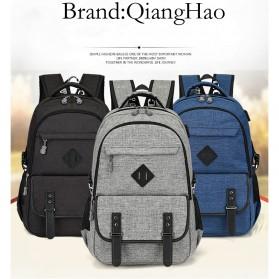 QiangHao Tas Ransel Laptop dengan USB Charger - Gray - 5