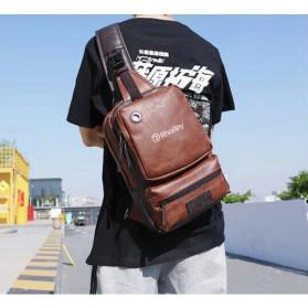 Rhodey Tas Selempang Crossbody Bag Bahan Kulit - K7713 - Dark Brown - 2