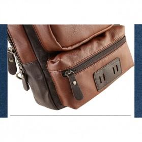 Rhodey Tas Selempang Crossbody Bag Bahan Kulit - K7713 - Dark Brown - 5