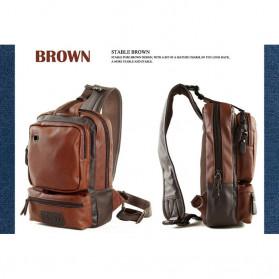 Rhodey Tas Selempang Crossbody Bag Bahan Kulit - K7713 - Dark Brown - 9