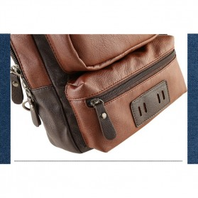 Rhodey Tas Selempang Crossbody Bag Bahan Kulit - K7713 - Navy Blue - 3