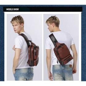 Rhodey Tas Selempang Crossbody Bag Bahan Kulit - K7713 - Navy Blue - 7