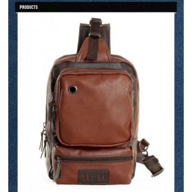 Rhodey Tas Selempang Crossbody Bag Bahan Kulit - K7713 - Navy Blue - 8