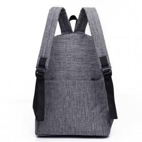 JINGPIN Gufflice Tas Ransel Laptop Backpack - T-B3143 - Gray - 2