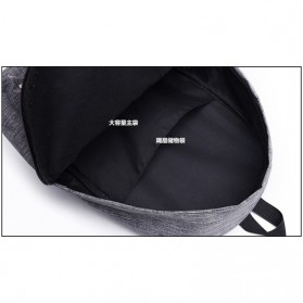 JINGPIN Gufflice Tas Ransel Laptop Backpack - T-B3143 - Gray - 7