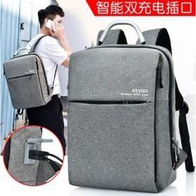 DXYIZU Tas Ransel Laptop dengan USB Charger - Space Gray - 2