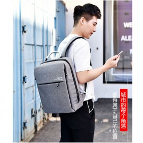 DXYIZU Tas Ransel Laptop dengan USB Charger - Space Gray - 3