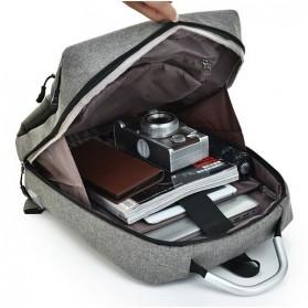 DXYIZU Tas Ransel Laptop dengan USB Charger - Space Gray - 7