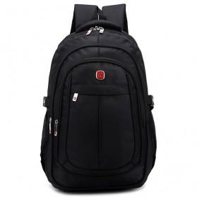Tas Ransel Laptop Quality Nylon - Black - 2