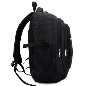 Tas Ransel Laptop Quality Nylon - Black - 3
