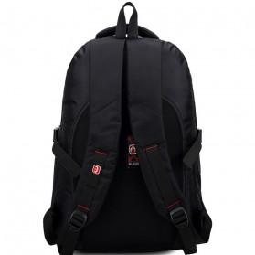 Tas Ransel Laptop Quality Nylon - Black - 4