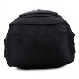 Tas Ransel Laptop Quality Nylon - Black - 5
