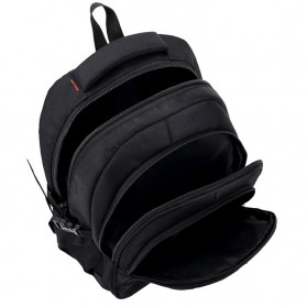 Tas Ransel Laptop Quality Nylon - Black - 6
