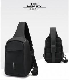 Tas Selempang Crossbody Bag Kasual Unbalance Fashion - Black - 2