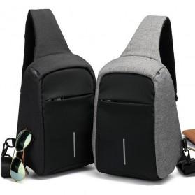 Tas Selempang Crossbody Bag Kasual Unbalance Fashion - Black - 5