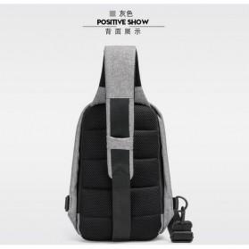 Tas Selempang Crossbody Bag Kasual Unbalance Fashion - Black - 6