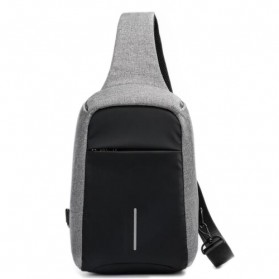 Tas Selempang Crossbody Bag Kasual Unbalance Fashion - Gray - 1