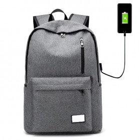 Tas Ransel Backpack dengan USB Charger Port - Space Gray
