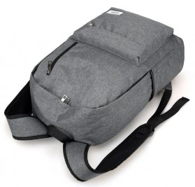 Tas Ransel Backpack dengan USB Charger Port - Space Gray - 5