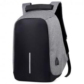 Tas Ransel Laptop Anti Maling dengan USB Charger Port - Gray - 2