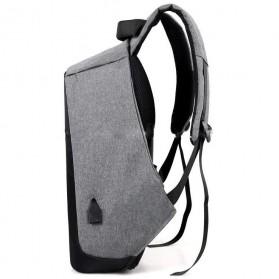 Tas Ransel Laptop Anti Maling dengan USB Charger Port - Gray - 3
