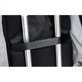 Tas Ransel Laptop Anti Maling dengan USB Charger Port - Gray - 6