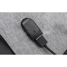 Tas Ransel Laptop Anti Maling dengan USB Charger Port - Gray - 7