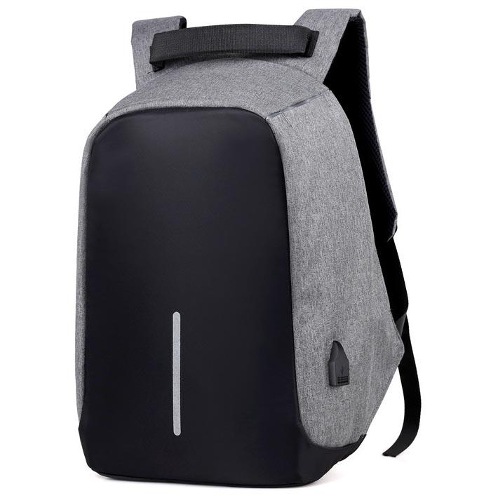 ... Tas Ransel Laptop Anti Maling dengan USB Charger Port - Gray - 2 ... 8071db6e33