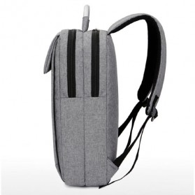 SHJLU Tas Ransel Laptop Business Style Fit To 15 Inch - ZHD-0219 - Gray - 3
