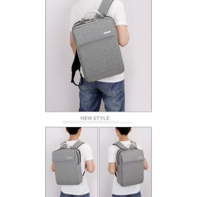 SHJLU Tas Ransel Laptop Business Style Fit To 15 Inch - ZHD-0219 - Gray - 7
